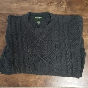 Nice dark gray Eddie Bauer cable knit sweater med.
